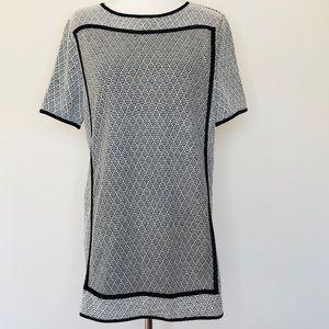 NWT THML Anthro Textured Short Sleeve Shift Dress